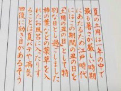 紙とペンさえあればできる、筆ペン生活はじめてみませんか?【筆ペン6回コース・7月のお手本】
