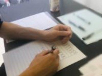 下敷き3点セットが好評中♪ペン字グループレッスンからのペン字個人レッスンでした!