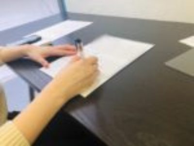ペン字&筆ペングループレッスンからの、個人レッスンでした♪